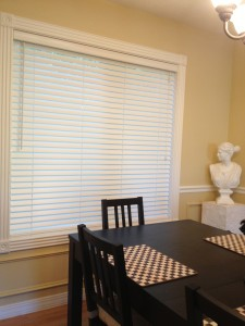 Decorative wooden blinds can make home selling easier